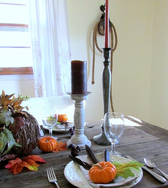 Quick Fall Tablescape