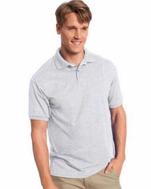 Hanes 054X Mens Comfortblend Jersey Polo - Ash– L