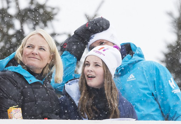 Crown Prince Haakon, Crown Princess Mette-Marit, Princess Ingrid Alexandra and Prince Sverre Magnus attended the FIS World Cup Nordic Ski Festival