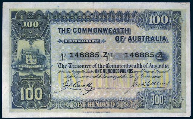 Australian 100 Pound note 1924