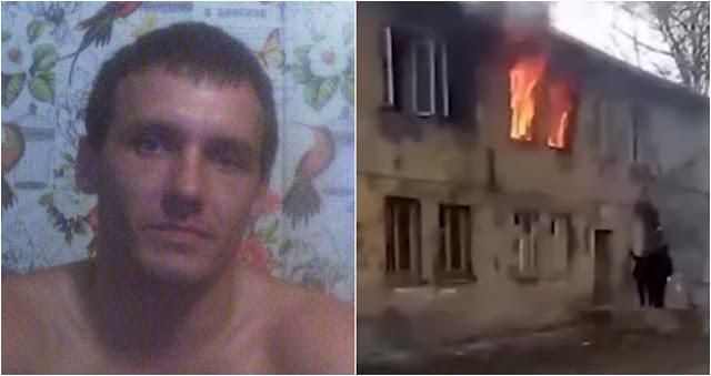 Забрался по стене и спас детей из огня!
