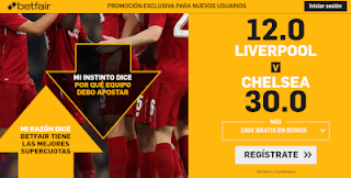 betfair supercuota final Supercopa de Europa Liverpool vs Chelsea 14 agosto 2019