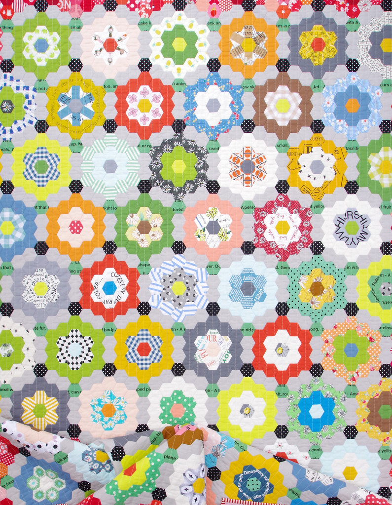 My Pandemic Quilt - Grandmother's Flower Garden Quilt | © Red Pepper Quilts 2020