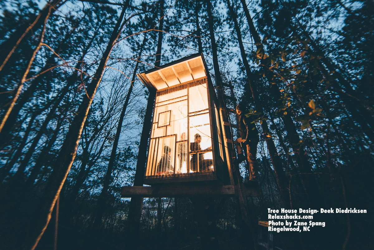2017 01 tree house rentals in north carolina - Above A Recent Smaller Tree House We Built In North Carolina With Students