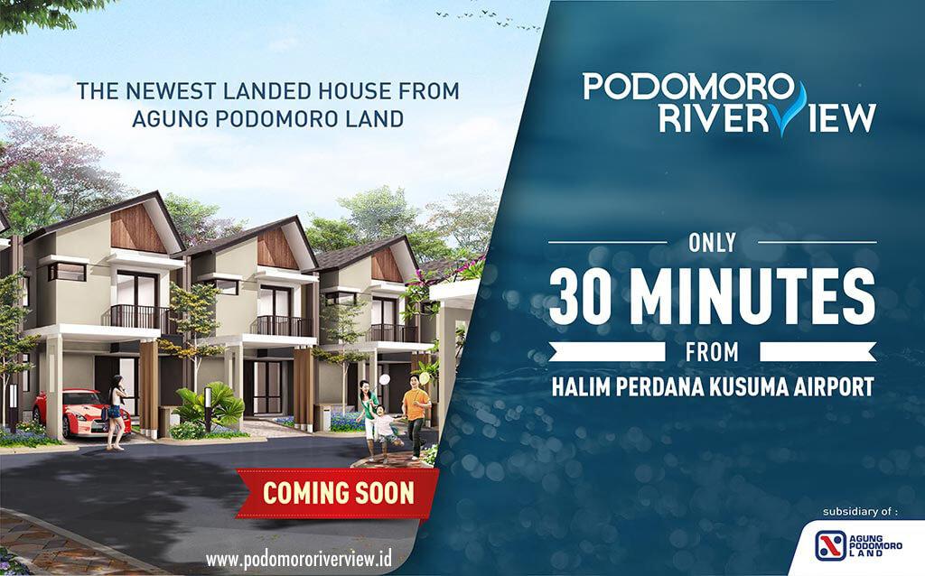 Dijual Rumah Podomoro River View