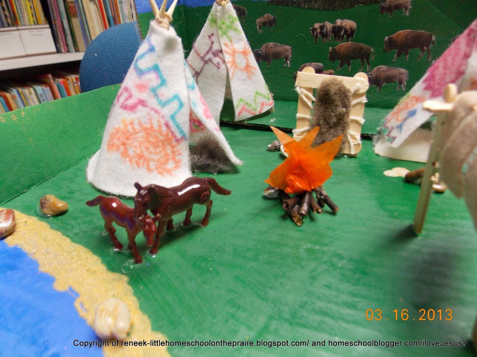 Little Homeschool On The Prairie Teepee Indian Village