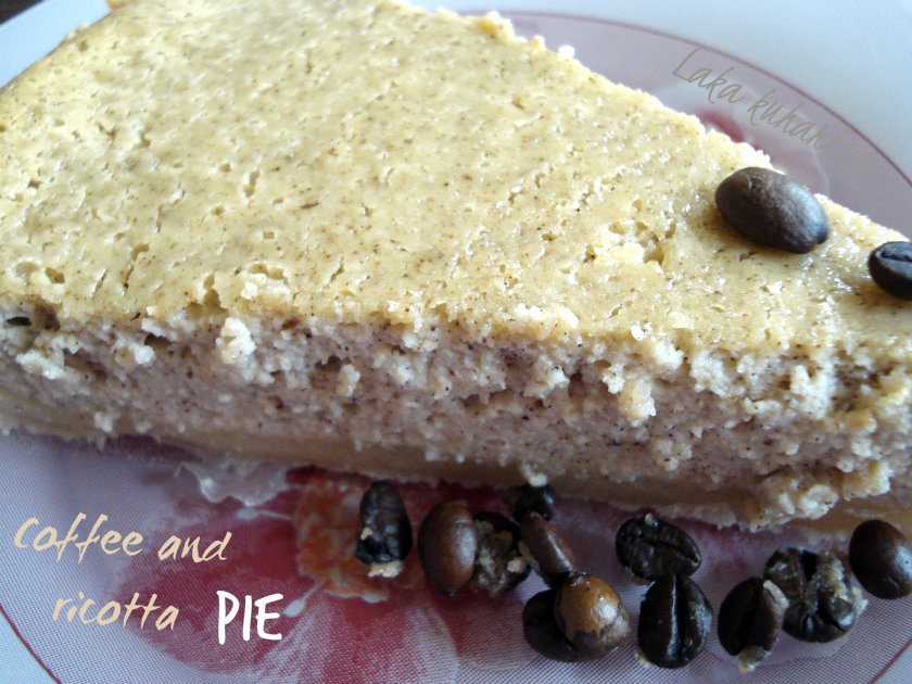 Coffee and ricotta pie by Laka kuharica: fluffy and aromatic pie ideal for coffee lovers.