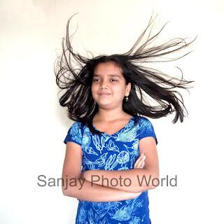 hair in air