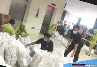 LAZISMU Jepara Menggalang Bantuan Dan Menyalurkan Korban Banjir Desa Dorang