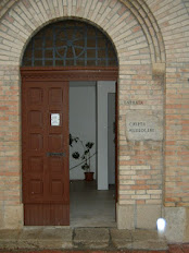 The entrance to the crypt that houses Mussolini's body
