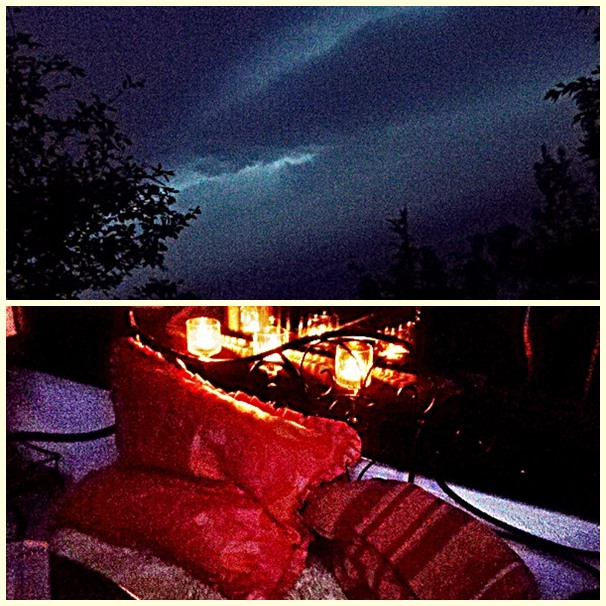 Sommernacht mit Gewitter Juli 2017