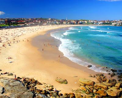 overview of Bondi Beach Australia