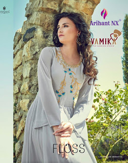 Arihant nx Floss Georgette party wear Gown