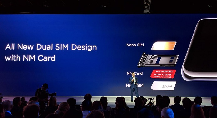 Huawei replaces SD cards with the new NM Cards