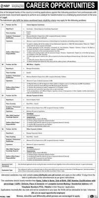 Jobs in National Bank of Pakistan (NBP) December 2020