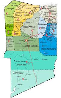 Peta Kabupaten Boven Digoel Lama Gambarlin