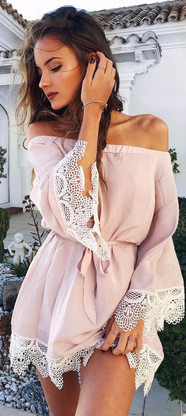 all blush / summer outfit perfection