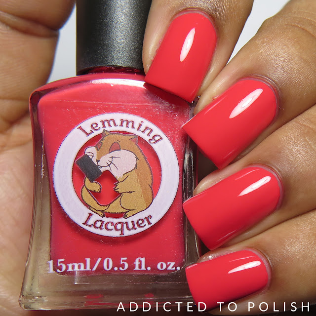 Lemming Lacquer Coral Creme-nally Dynamic Collection
