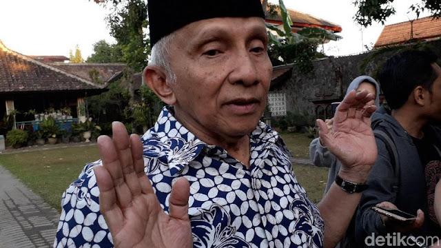 Prabowo Ketemu Jokowi, Amien Rais: Kok Tiba-tiba Nyelonong?