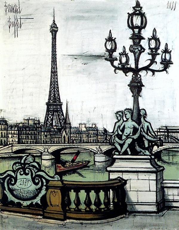 Art et glam paris peint par bernard buffet for Buffet peintre