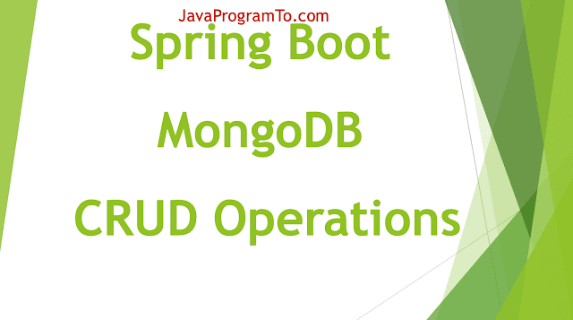 Spring Boot MongoDB CRUD Operations Example