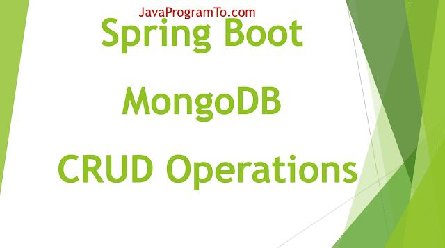 Spring Boot MongoDB CRUD Operations Example