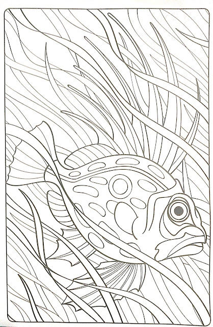 Mandala de pez para colorear