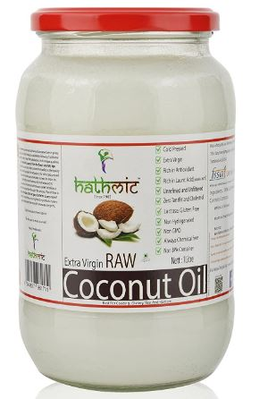 Hathmic Raw Extra Virgin Cold Pressed Coconut Oil