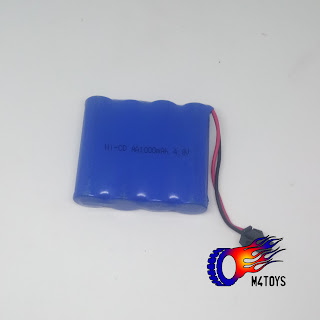 BATTERY BATERAI MOBIL MAINAN REMOTE CONTROL 1000MAH 4.8 V - BIRU