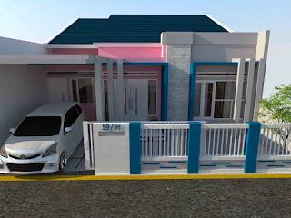 Perpaduan warna cat depan rumah minimalis