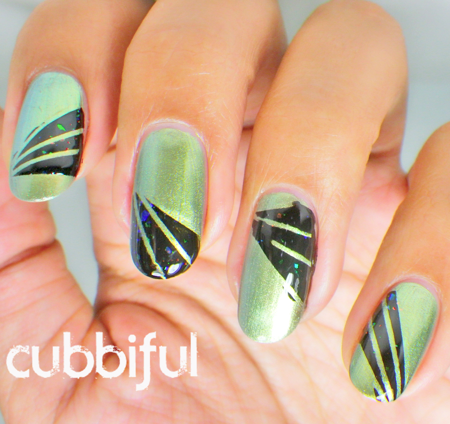 nails inspired by Gaultier Spring/Summer 2010 dresses