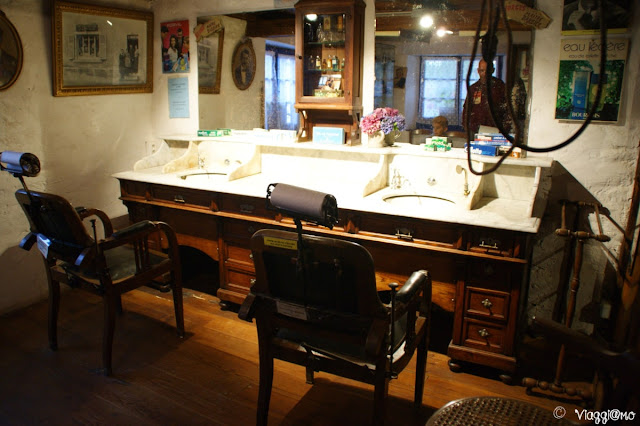 La sala del barbiere all'Ecomuseo d'Alsazia