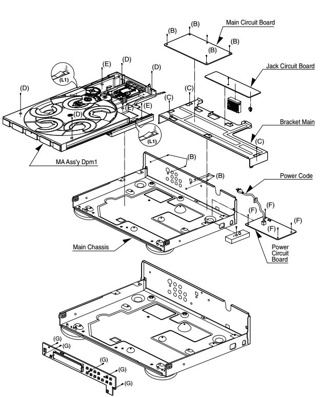 harman  kardon dvd 50  u2013 circuit diagram  u2013 disassembly