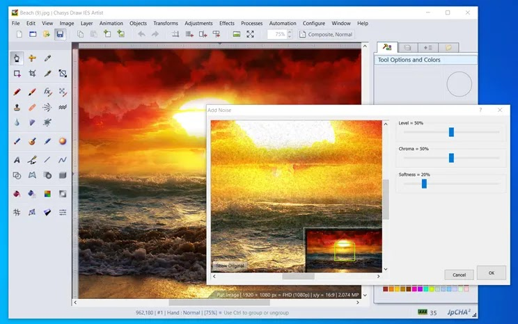 Chasys Draw IE:  Επαγγελματικών προδιαγραφών, επεξεργασία και δημιουργία γραφικών
