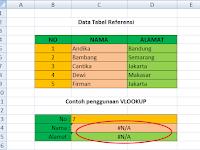 3 Cara Menghilangkan #N/A pada Fungsi VLOOKUP Excel