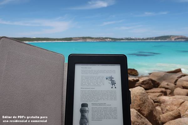 lendo livro no Kindle