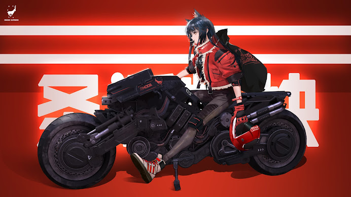 Texas, Arknights - Illustration by Drive Shot