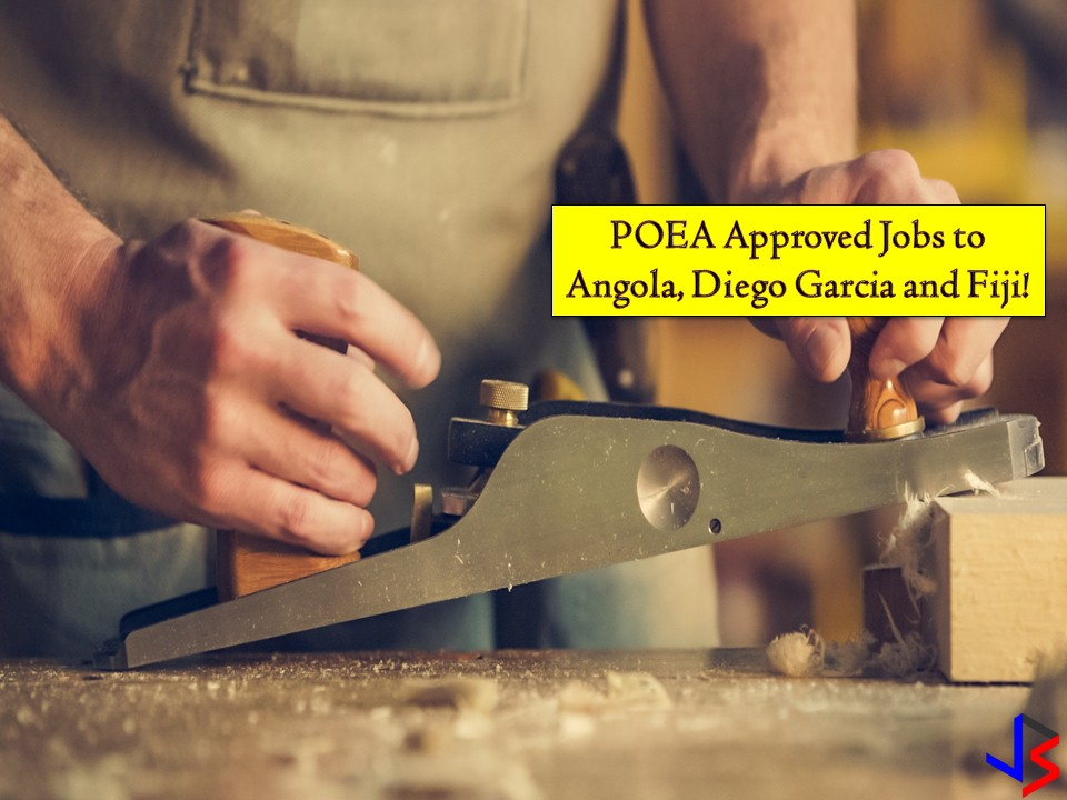 POEA Approved Jobs to Angola, Diego Garcia and Fiji