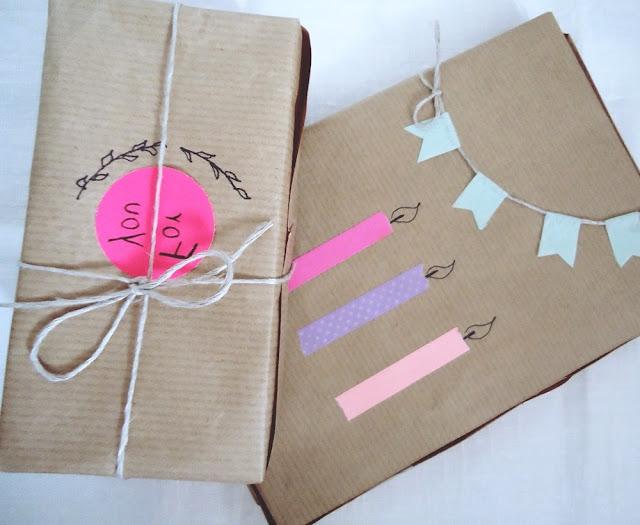 zapakuj prezenty w szary papier