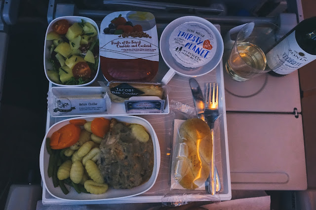 エミレーツ航空EK191 機内食1 その2