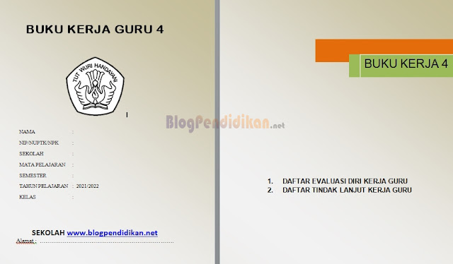 Contoh Format Buku Kerja Guru 4 Kurikulum 2013 SD/MI
