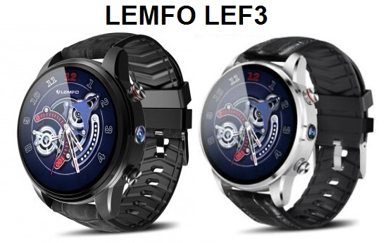 LEMFO LEF3 4G LTE SmartWatch Specs, Price, Features