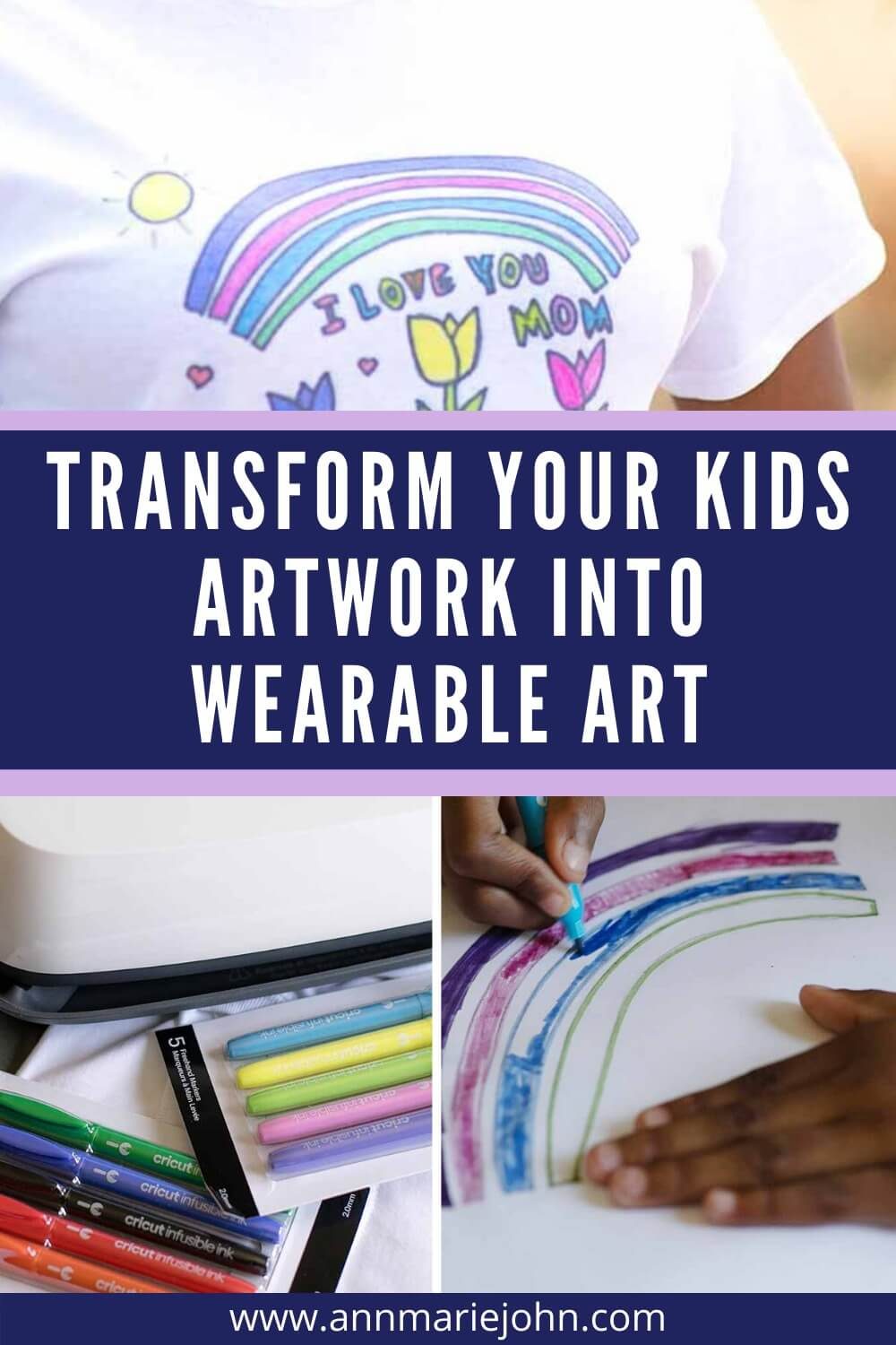 Transform Your Kids Artwork into Wearable Art