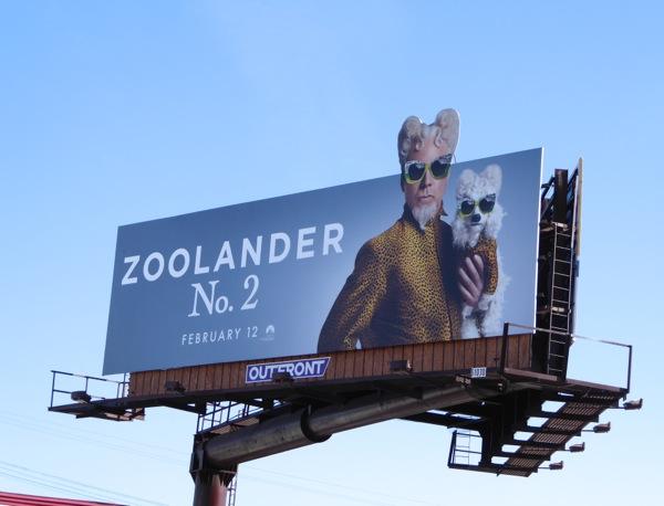 Will Ferrell Zoolander 2 Mugatu billboard