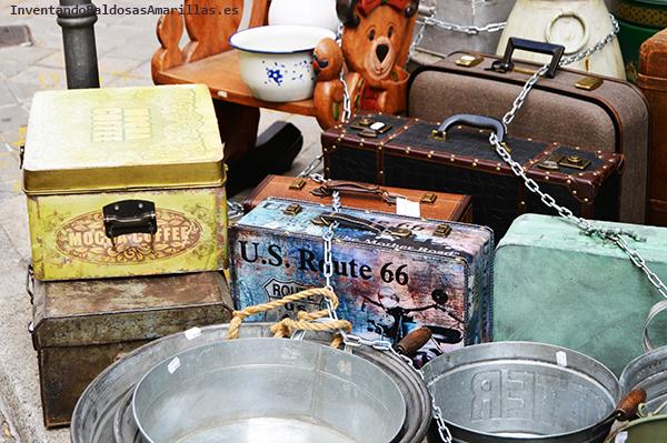 Latas, maletas y barreños de metal