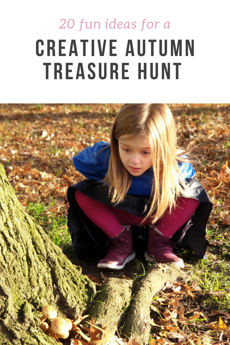 Easy imagination-filled ideas for an autumn scavenger hunt - 20 things to do and things to see in autumn, including creative ideas too!