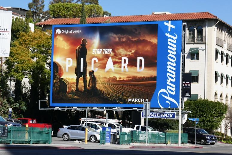 Star Trek Picard Paramount+ billboard