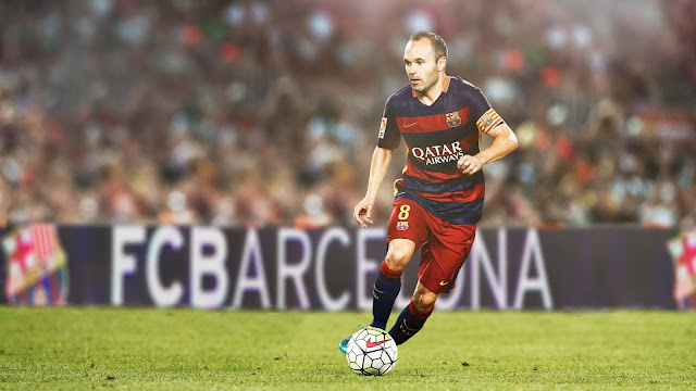 Illustration of Nature Photography - Andres Iniesta, FC Barcelona