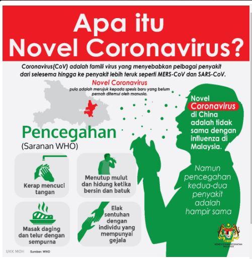 Novel Coronavirus (2019-nCoV), novel Coronavirus, CoV, 2019-nCoV, maksud novel corona virus,  Langkah-Langkah Pencegahan Corona Virus, cara mengelak dari jangkitan virus corona, cara mencegah jangkitan virus corona, tempat bermulanya virus corona, dimana virus corona di jumpai, akibat dari jangkitan virus corona, apa itu virus corona, bagaimana virus corona berjangkit, ubat virus corona, ubat coronavirus, coronavirus medicine,