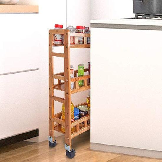 Livzing Bamboo 3 Layer Storage Organizer Rack